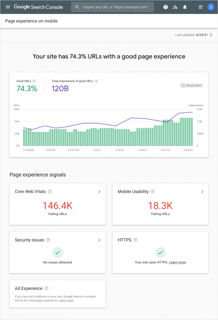 page-experience-report